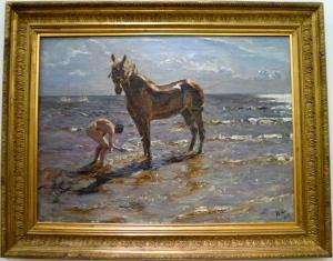Bathing a Horse, 1905